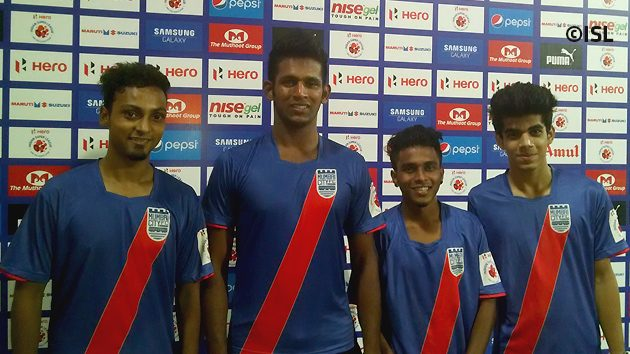 The freestyle footballers at DY Patil Stadium