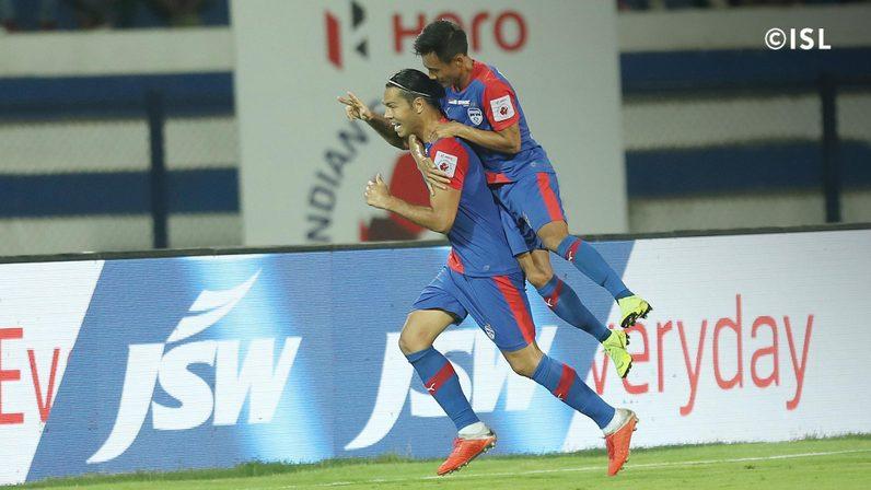 Miku celebrates after giving Bengaluru FC the lead